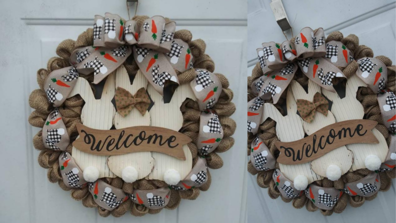 Bunny party wreath