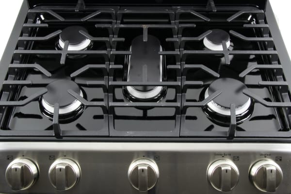 Full view of the stovetop and control dials.