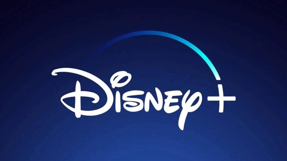 The Disney Plus logo against a blue backdrop