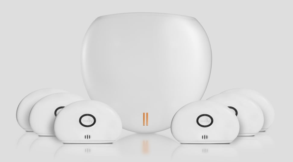 The WallyHome hub and sensors