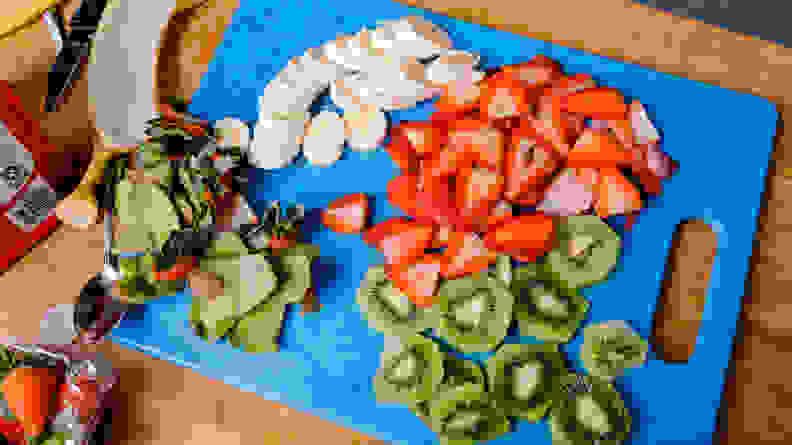 Chopped fruit for toppings