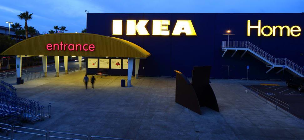 IKEA Entrance at Night