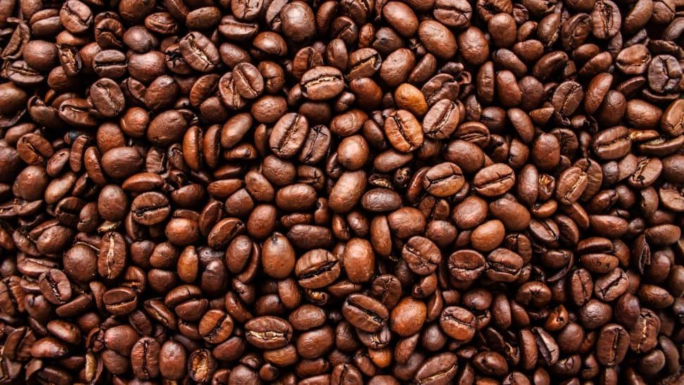 A closeup shot of coffee beans.