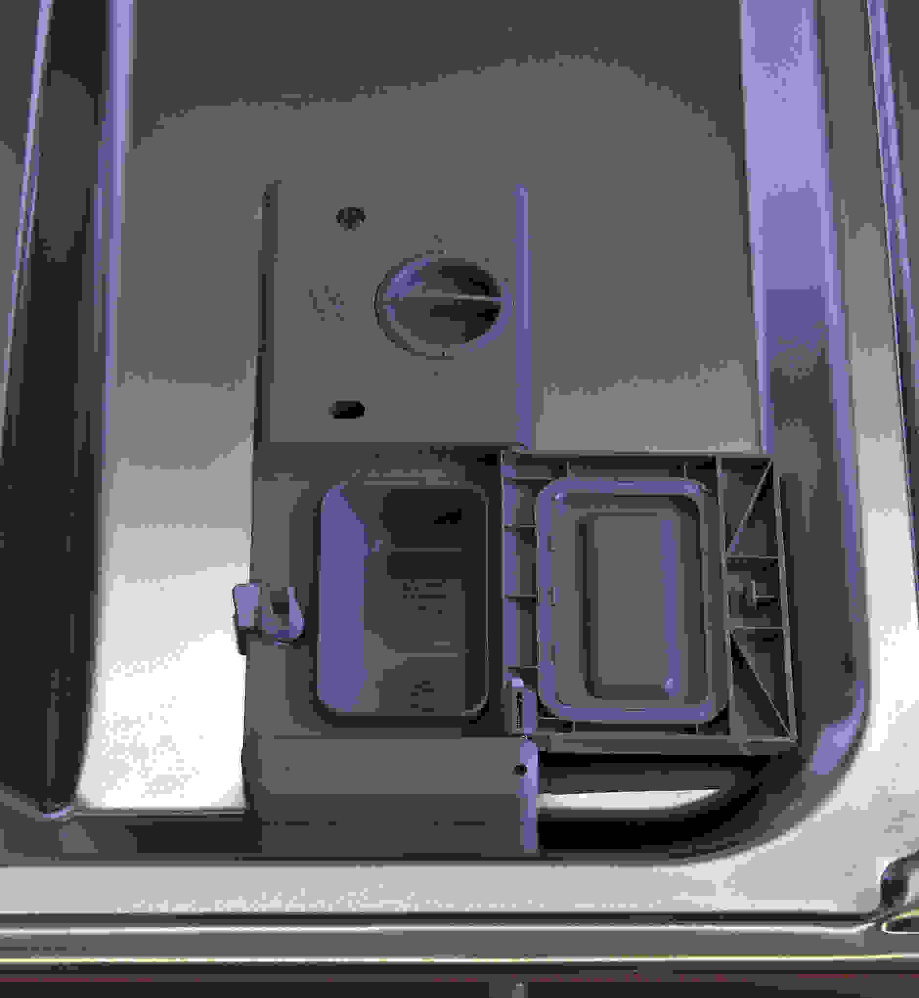 Samsung DW80F800UWS detergent and rinse aid dispenser