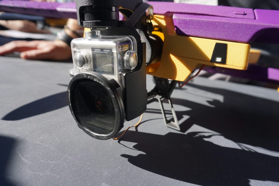 Mounted GoPro