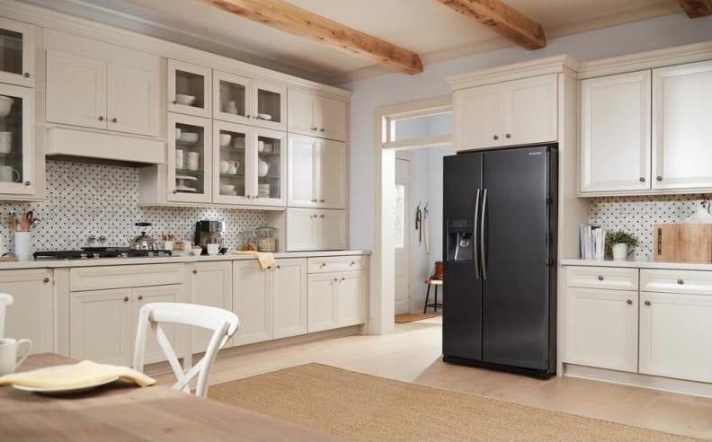 Black-stainless-steel-samsung-fridge