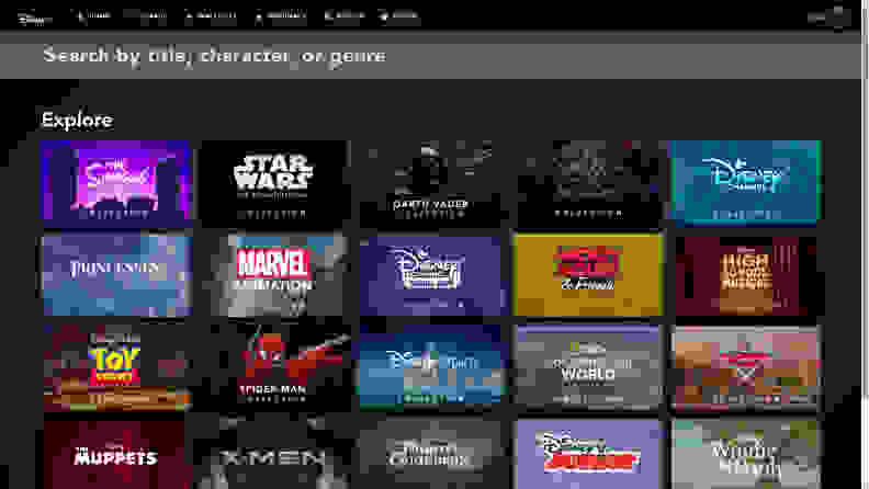 Disney+ search