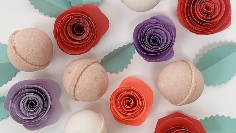 Make bath time festive with Dabble & Dollop's Valentine bath bombs.