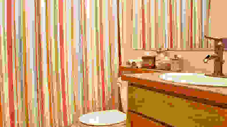 Closed-shower-curtain