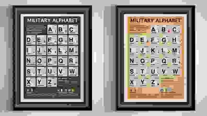 Military Alphabet Frame