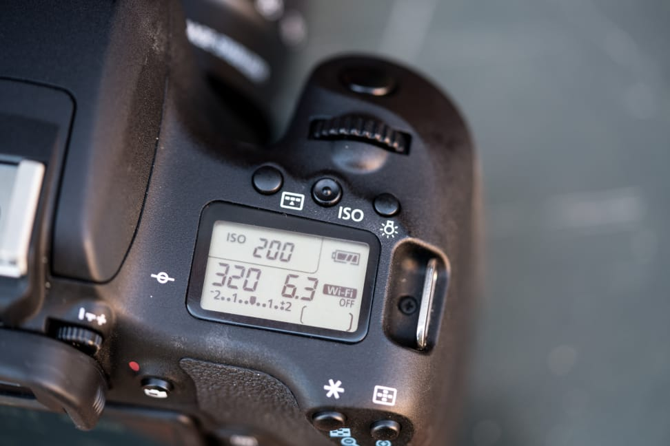 Canon Rebel T6s Secondary LCD