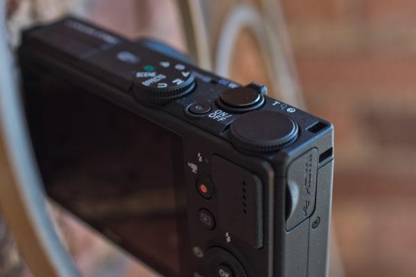 A photograph of the Nikon Coolpix P340's controls.