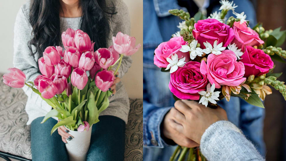 Two pink flower bouquets