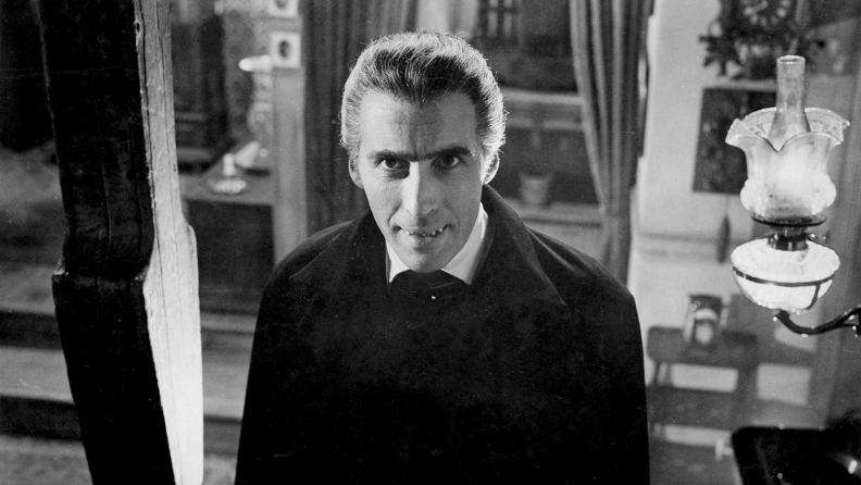 Christopher Lee plays the titular count in Hammer's 1958 'Dracula.'