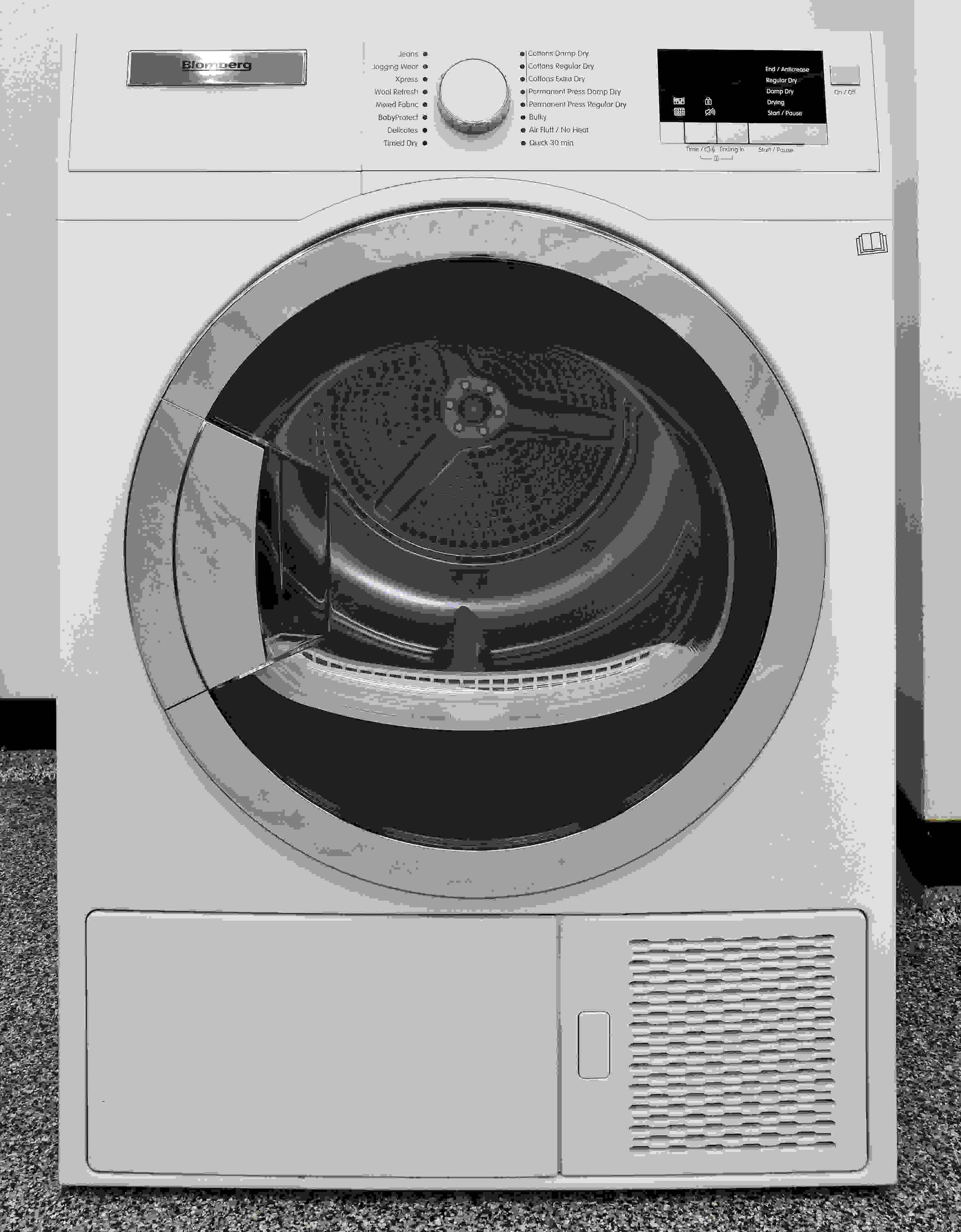 The Blomberg DHP24412W looks like a regular dryer, just smaller and with no vent.