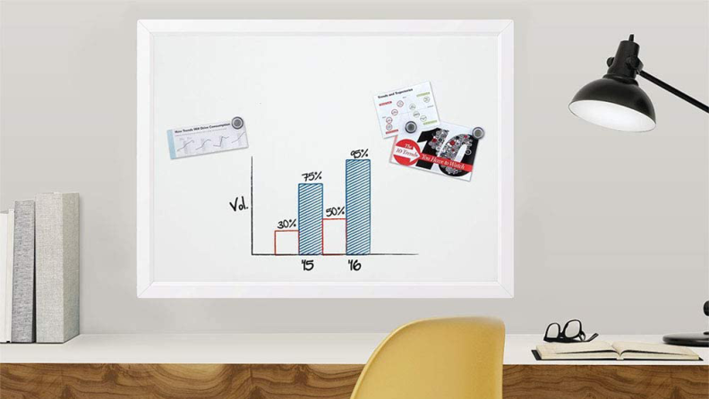 A whiteboard is great for staying organized.