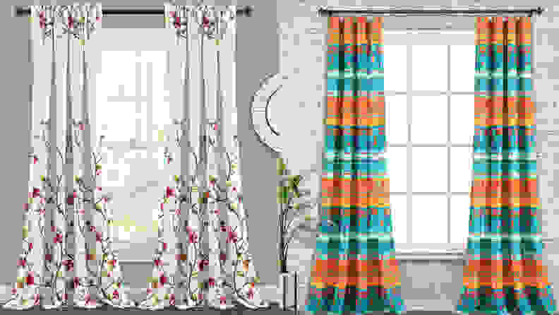 A split panel of two curtains from QVC, one of the best places to buy curtains online.