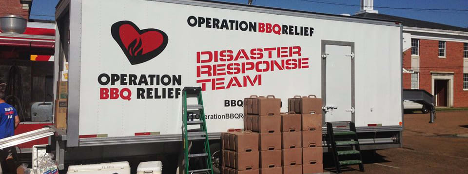 Operation BBQ Relief provides good food and friendly smiles to people in need.
