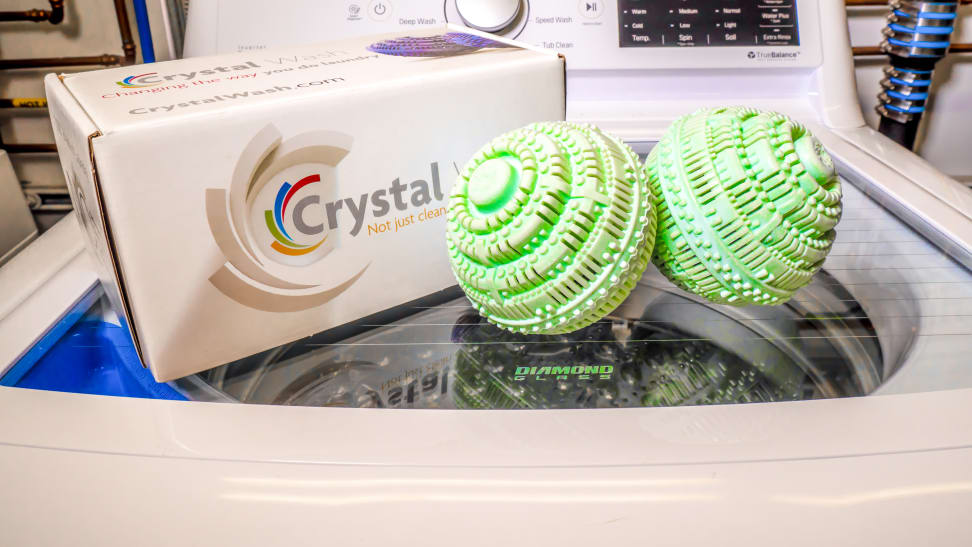 We tested the Crystal Wash to see if they could stand up to traditional detergent.
