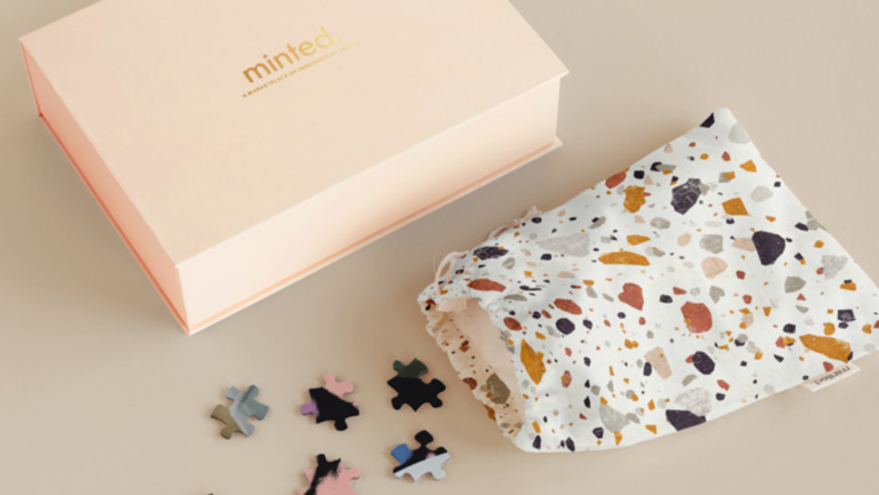 branded keepsake box and pouch