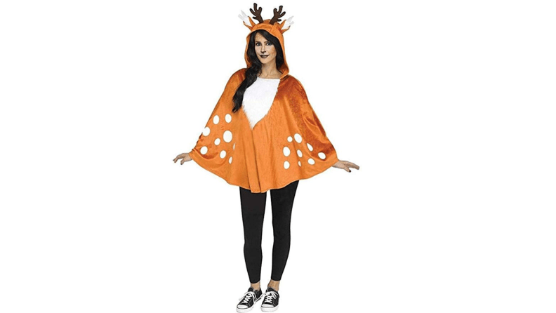 One Size Fits Most Womens Glitter Cat Poncho Costume
