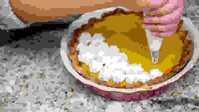 Decorate your pie with a nice meringue topping.