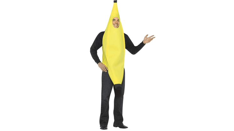 BANANA Costume one size fits most bottom of it is peeled