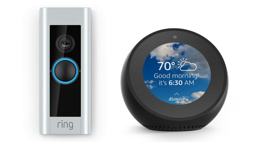 Ring Video Doorbell Pro and Amazon Echo Spot