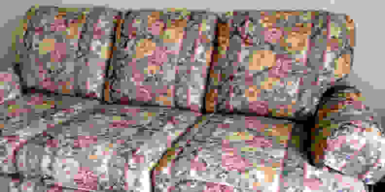 Floral Couch Print