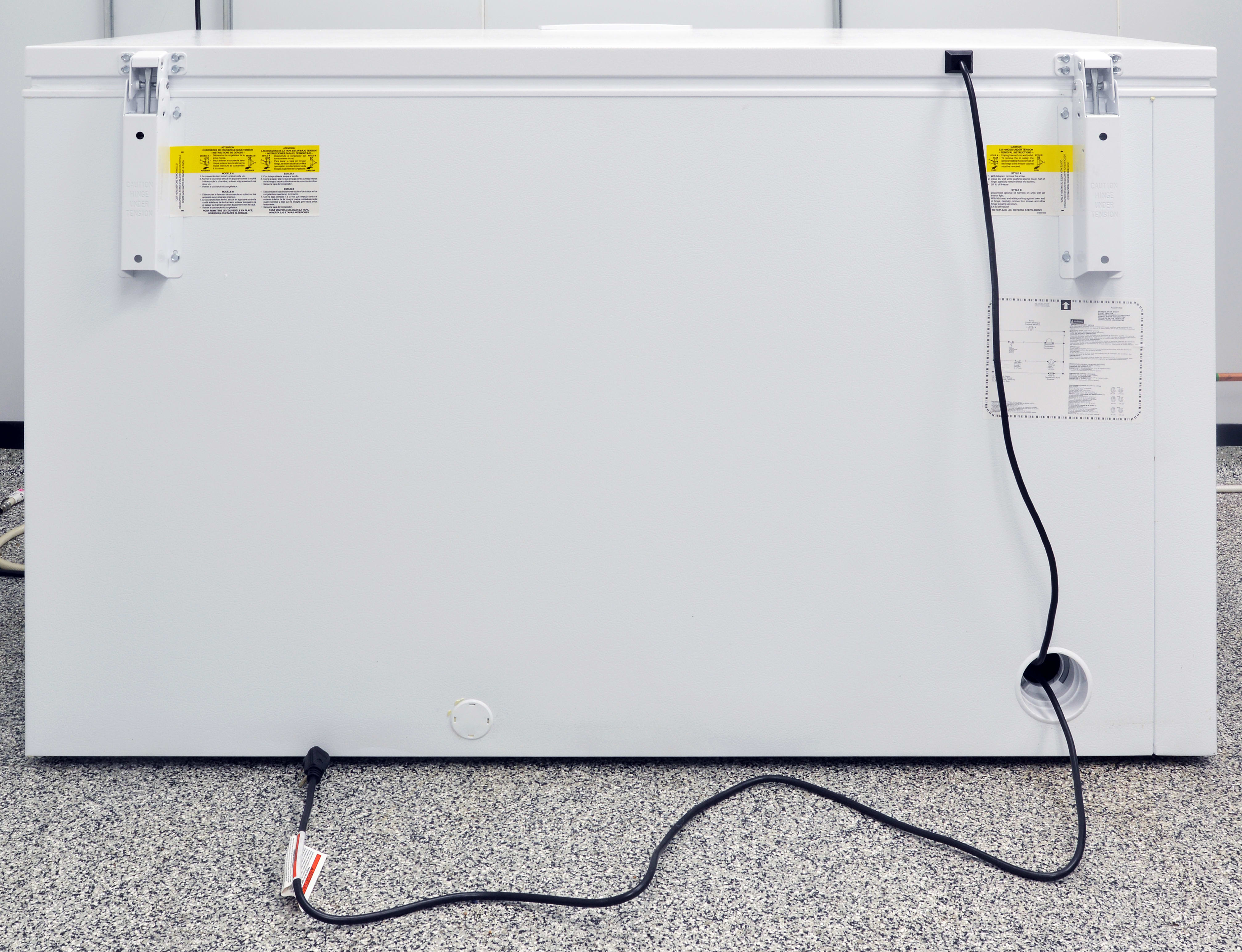 Make sure you position the side with the Frigidaire FFFC16M5QW's power cable near enough to an outlet.