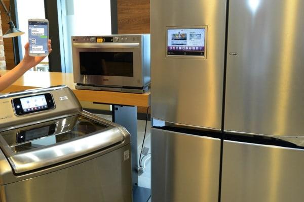 Three LG smart appliances