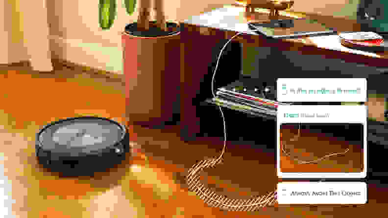 The iRobot Roomba j7+ asking owner about unknown object