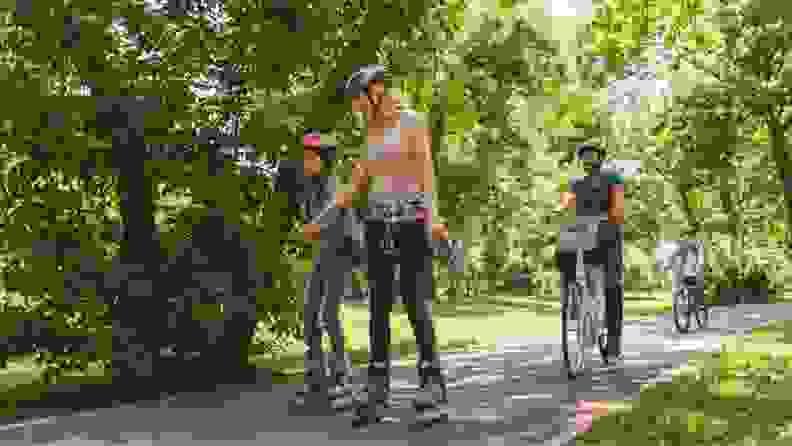 Rollerblade and Bike