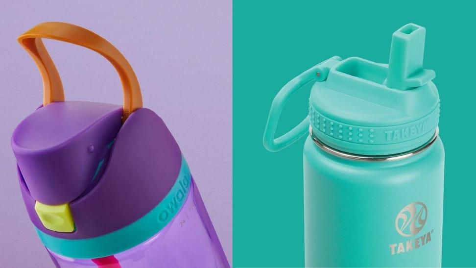 Left: Owala FreeSip Water Bottle; Right: Takeya Actives Water Bottle