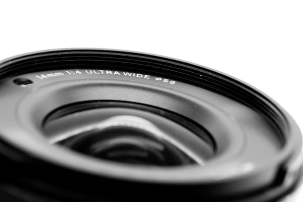 The 14mm lens combined with the APS-C Foveon sensor makes for a 21mm equivalent focal length.