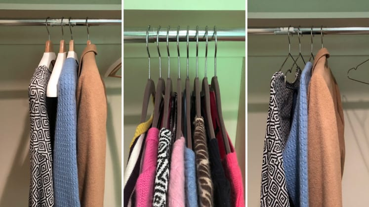 lightweight and durable for everyday closet use Slim Metal Hangers