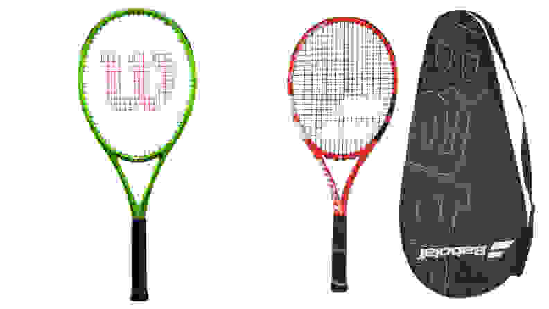 The Wilson Blade Feel Pro and the Babolat Boost Strike tennis rackets.