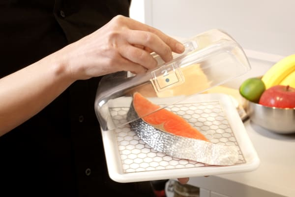 The glass lid keeps cold air in while still allowing you to see what's inside, and they seem like they'd be great for storing portion-controlled leftovers.