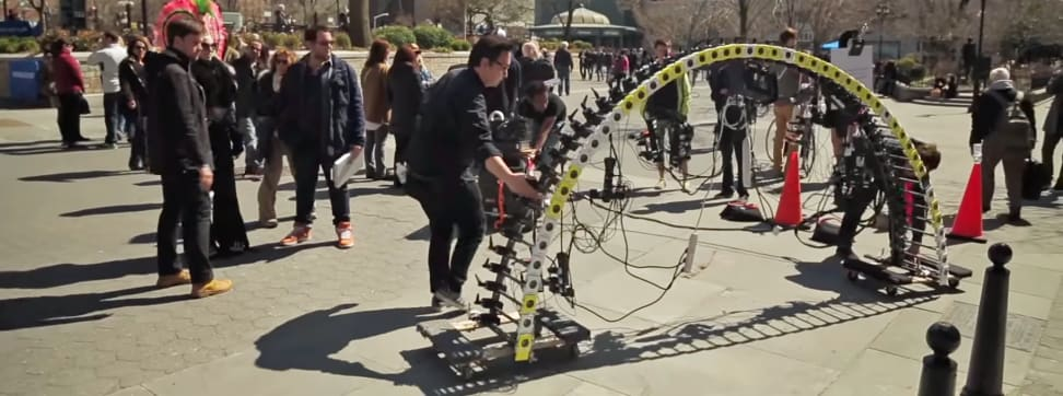 Nokia's Arc of Wonder rigged 50 Lumia 1020s to create unique bullet-time effects.