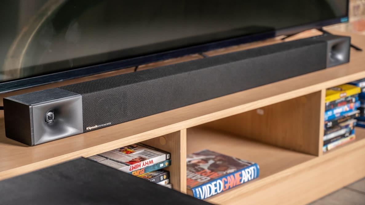 Klipsch's Cinema 400 soundbar features a 2.1-channel system