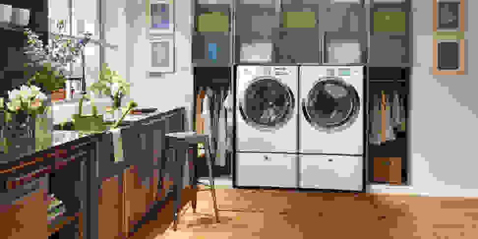 An Electrolux laundry pair