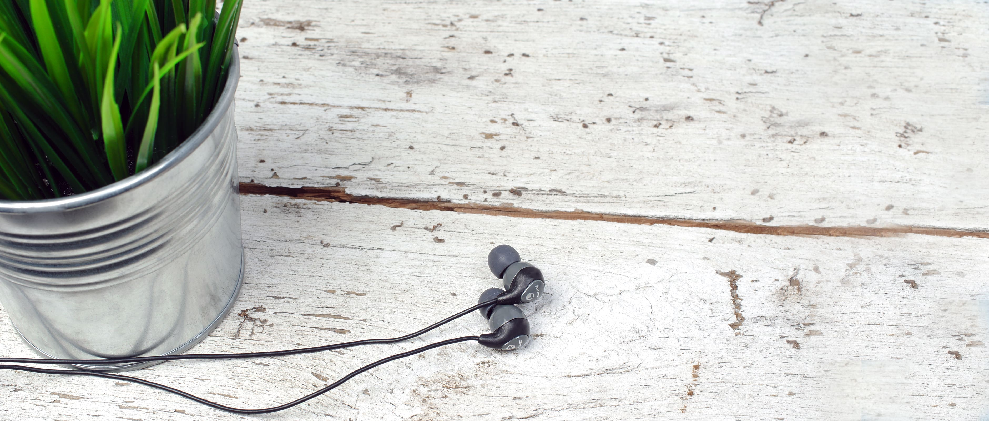 The Shure SE112 in-ear headphones