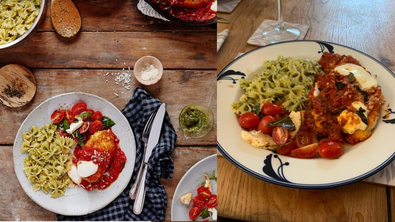 Amazon Meal Kit Chicken Dinner: PR Photo vs. Real Photo