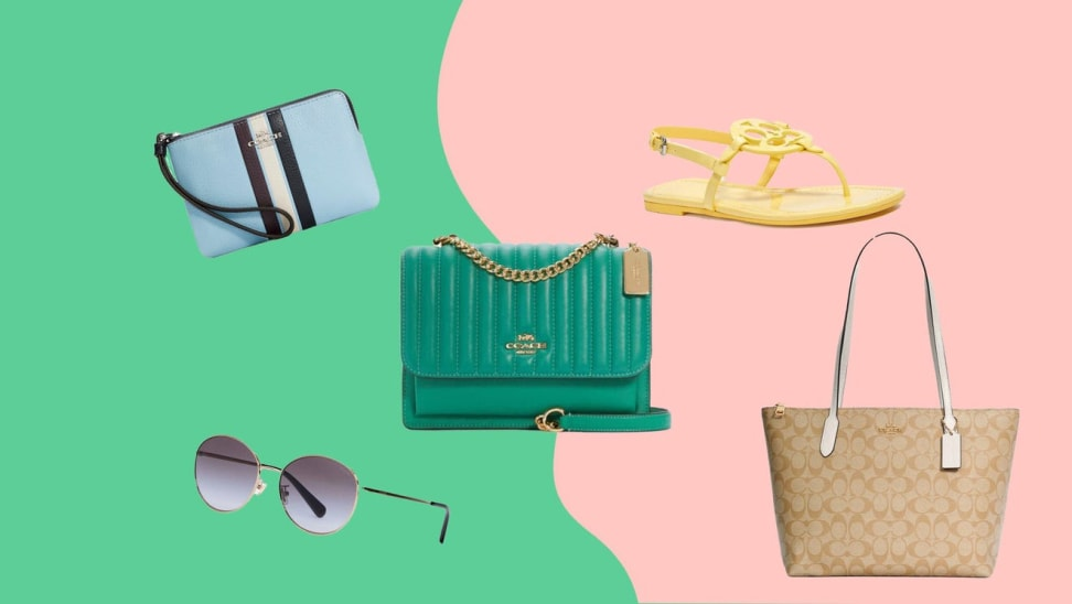 bags, sunglasses, and shoe from Coach Outlet