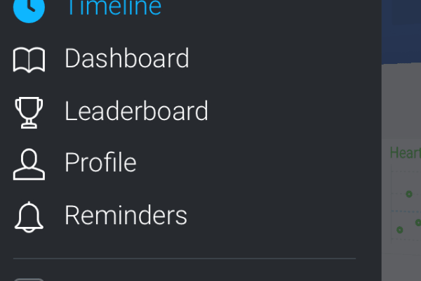 The app menu