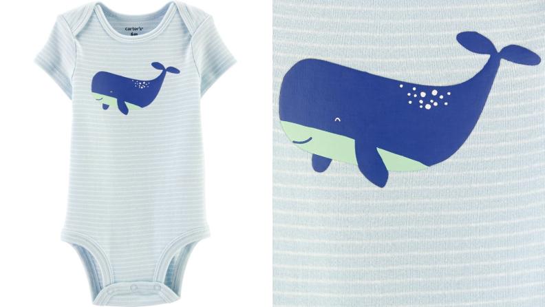 Whale onesie