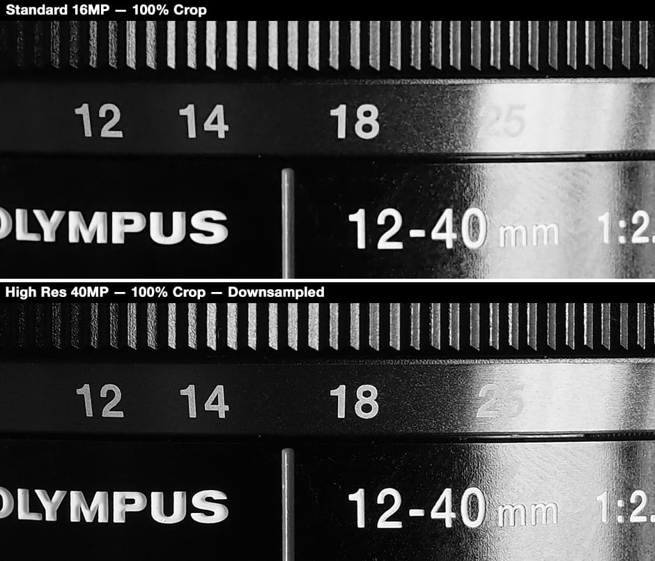 Olympus OM-D E-M5 Mark II – High-Res Comparison