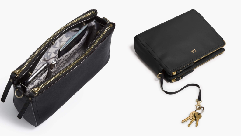 Lo & Sons Pearl leather crossbody bag