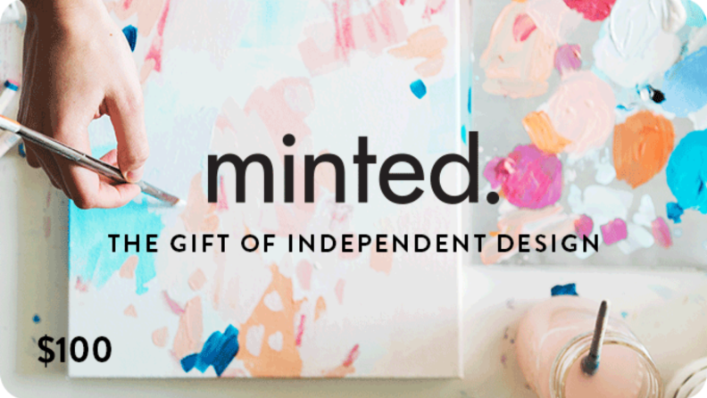 Best engagement gifts: Minted gift card