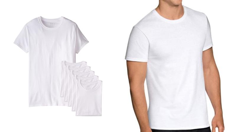 Men's white t-shirt.